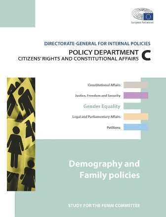 Demography & Family policies - EP report cover