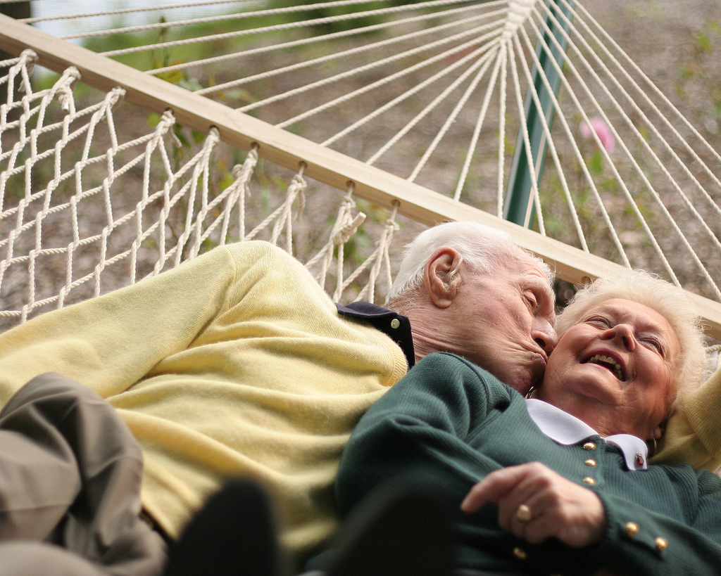 older couple in hammock
