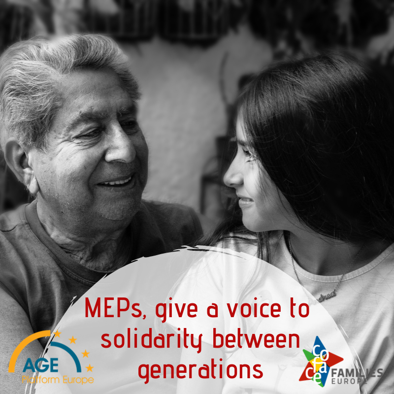 MEPs, give a voice to solidarity between generations!